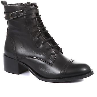 Jones Bootmaker Womens Madie Hälade Läder Ankel Stövlar