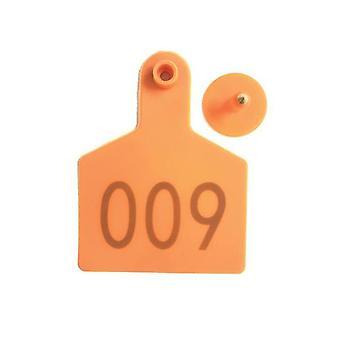 1 à 100 étiquettes d'oreille de bovin Numéro de jeu