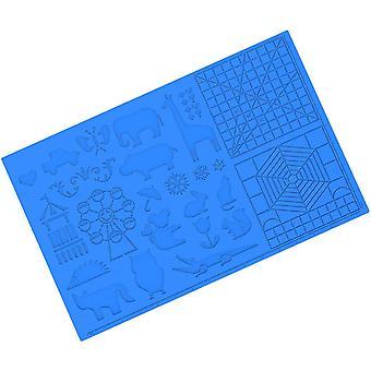 Impression 3D Stylo Silicone Mat Dessin Modèle Pad Hollow Out Peinture Bricolage Jouets éducatifs pour les filles