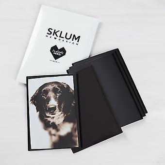 SKLUM Set van 5 magnetische lijsten voor Garbo-foto's PVC ZWART