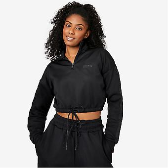 Everlast Womens Premium Taped Track Top Cropped Sports Casual Activewear Jacket