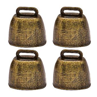 4pcs Metall Rinderglocken Schafglocke Ornament Landwirtschaft Zubehör (bronze)