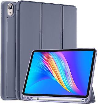 עבור מארז Ipad Air דור 4 2020 עם מחזיק עיפרון, מארז Ipad Air4 בגודל 10.9 אינץ', מעטפת חכמה חסינת זעזועים עם מעמד, כיסוי התעוררות/שינה אוטומטי, ורוד