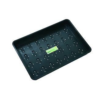 XL Seed Tray Black With Holes Home Planting Gardening