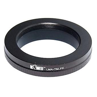 Kiwifotos Lens Mount Adapter: Allows T Mount Lenses (telescopes, microscopes, enlargers, bellows units etc.) to be usd on any Pentax K mount camera body