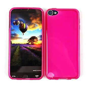 Onbeperkte cellulaire ontwerp Skin Case voor Apple iPod Touch 5 (PU Skin, trans. Hot Pink)