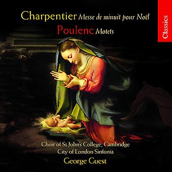 George Guest & City of London - Charpentier: Messe De Minuit versez Noel; Poulenc: Importer des Motets [CD] é.-u.