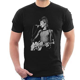 David Bowie Ziggy Stardust Gitarre Hammersmith Odeon 1973 Herren T-Shirt