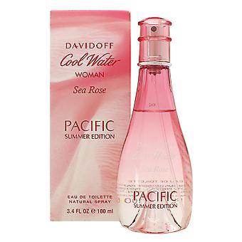 ダビドフ クール水女性海ローズ太平洋夏版オードトワレ 100 ml EDT スプレーします。