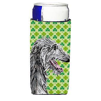 Scottish Deerhound Lucky Shamrock St. Patrick's Day Ultra Beverage Insulators fo