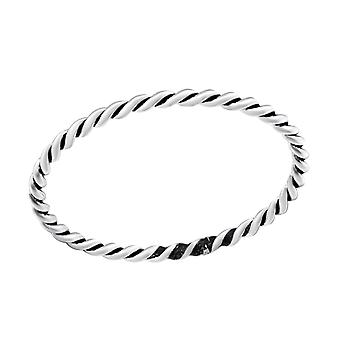Rope - 925 Sterling Silver Plain Rings - W31467x