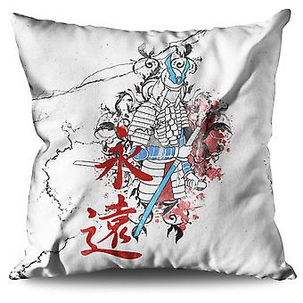 Art Fantasy Katana Linen Cushion 30cm x 30cm | Wellcoda