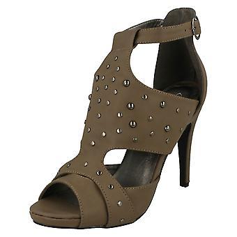 Dames plek op bezaaid hoge hak sandalen
