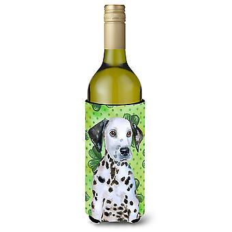 Dalmatian Puppy St Patrick's Wine Bottle Beverge Insulator Hugger