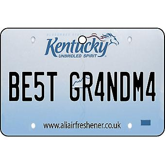 Kentucky - Best Grandma License Plate Car Air Freshener