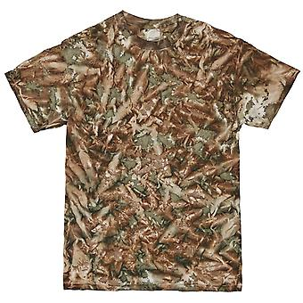 Colortone Mens Short Sleeve Tie Dye Camo Pattern T-Shirt