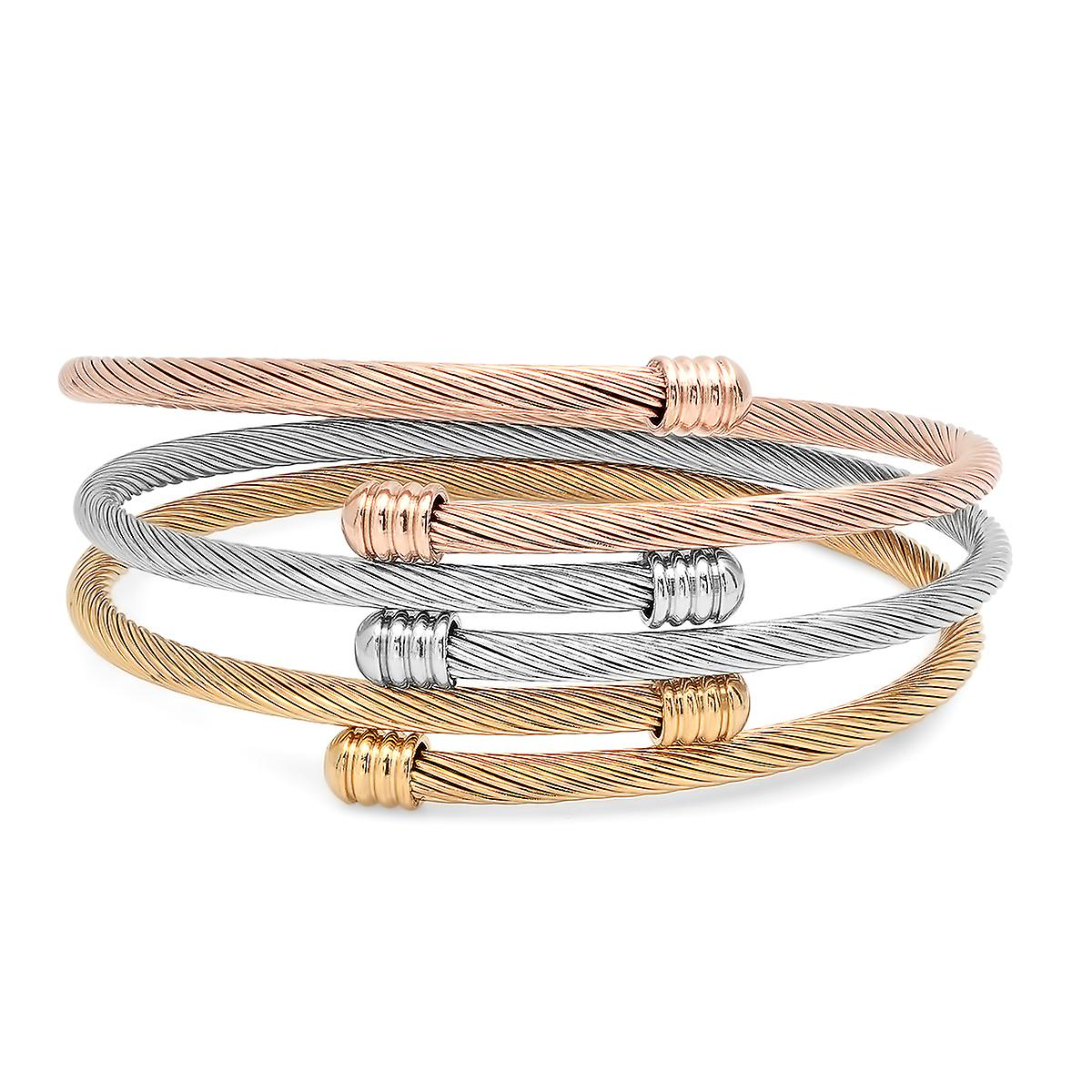Ladies Set Of 3 Wrap Bracelets