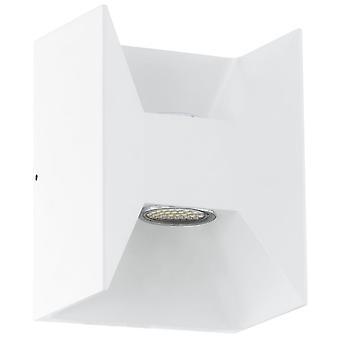 Eglo Morino blanco cubo LED arriba y abajo de la lámpara de pared