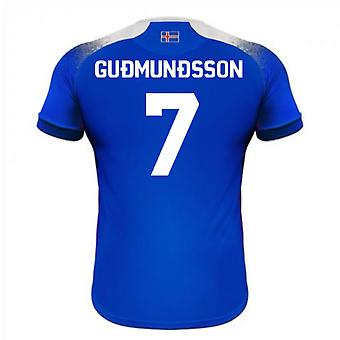 2018-2019 Iceland Home Errea Football Shirt (Gudmundsson 7)