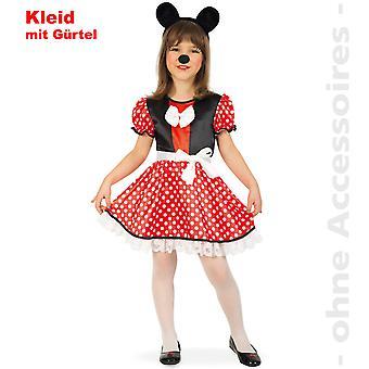 Mausi Maus Kostüm Kinder Minniekostüm Comic Maus Minnie Kinderkostüm
