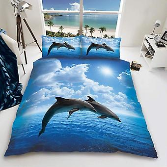 Dolphin Duvet Cover Bedding Set