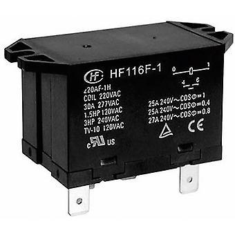 Hongfa HF116F-1/024DA-2HTW insteek Relais 24 V DC 25 A 2 makers 1 PC (s)