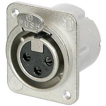 Neutrik NC3FD-LX-M3 XLR stik ærme socket, lige ben antal stifter: 3 sølv 1 computer(e)