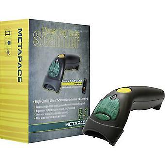 Metapace S-1 USB-Kit Barcode scanner Corded 1D Imager Anthracite Hand-held USB