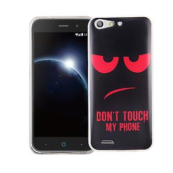 Cell phone case for ZTE blade V6 cover case protective bag motif slim silicone TPU dont touch my phone Red
