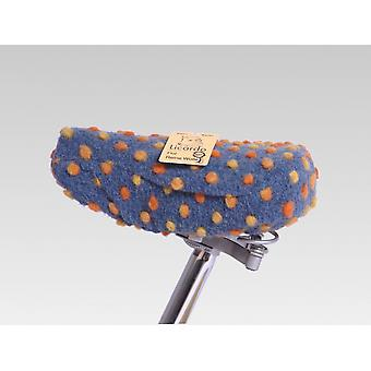 Bicycle saddle cover wool bubble blue 20/30 cm