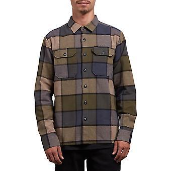 Volcom Randower Langarm Shirt in Militär
