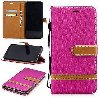 Huawei P20 par téléphone portable affaire sac protecteur Housse Etui carte spécialiste cas porte-monnaie rose