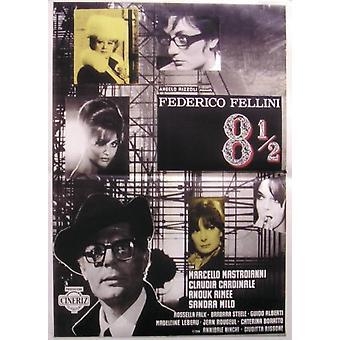 8 1/2 poster Marcello Mastroianni, Claudia Cardinale