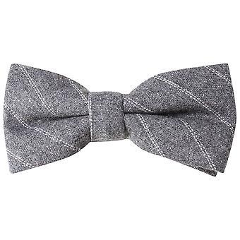 Knightsbridge Neckwear Diagonal stripete uavgjort - gråhvit