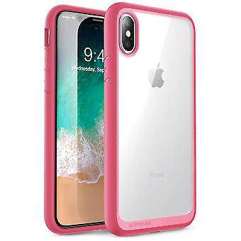 iPhone Xs Case, [Unicorn Beetle Style] Premium Hybrid Protective Clear Case 2018 Release (Pink)