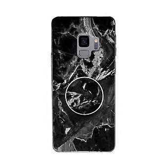 Marmeren geval met telefoon houder-Samsung Galaxy S9 +