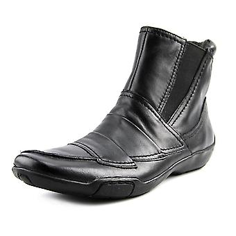Ros Hommerson Womens Claire Leather Square Toe Ankle Fashion Boots