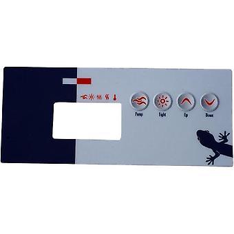 Gecko 9916-100218 TSC-19-GE1 4-Button Spa Control Panel Overlay