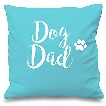 """Dog Dad Aqua Cushion Cover 16"""" x 16"""""""