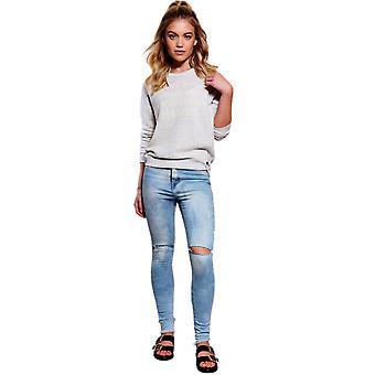 Lovemystyle vaskes Blue Jeans med knæ slidser - prøve