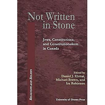 Niet geschreven in steen: constitutionele documenten van Canadese jodendom