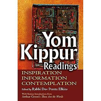 Yom Kippour lectures: Inspiration, Information et Contemplation