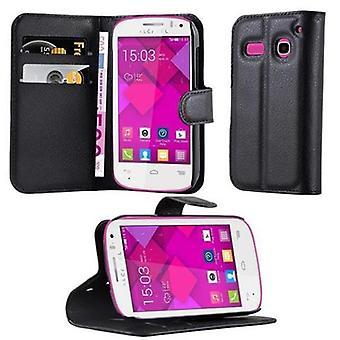 Cadorabo fallet för Alcatel OneTouch POP C3-telefon väska med magnetstängning, stand funktion och kort Case fack-Case täcker fall fall fall bok fällbara stil