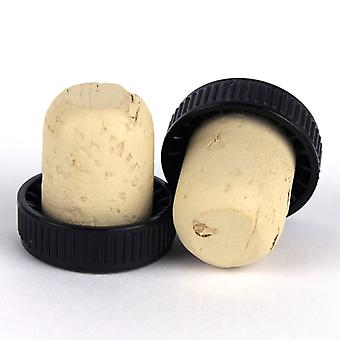 Plastic Topped Corks - Black Bag Of 1000