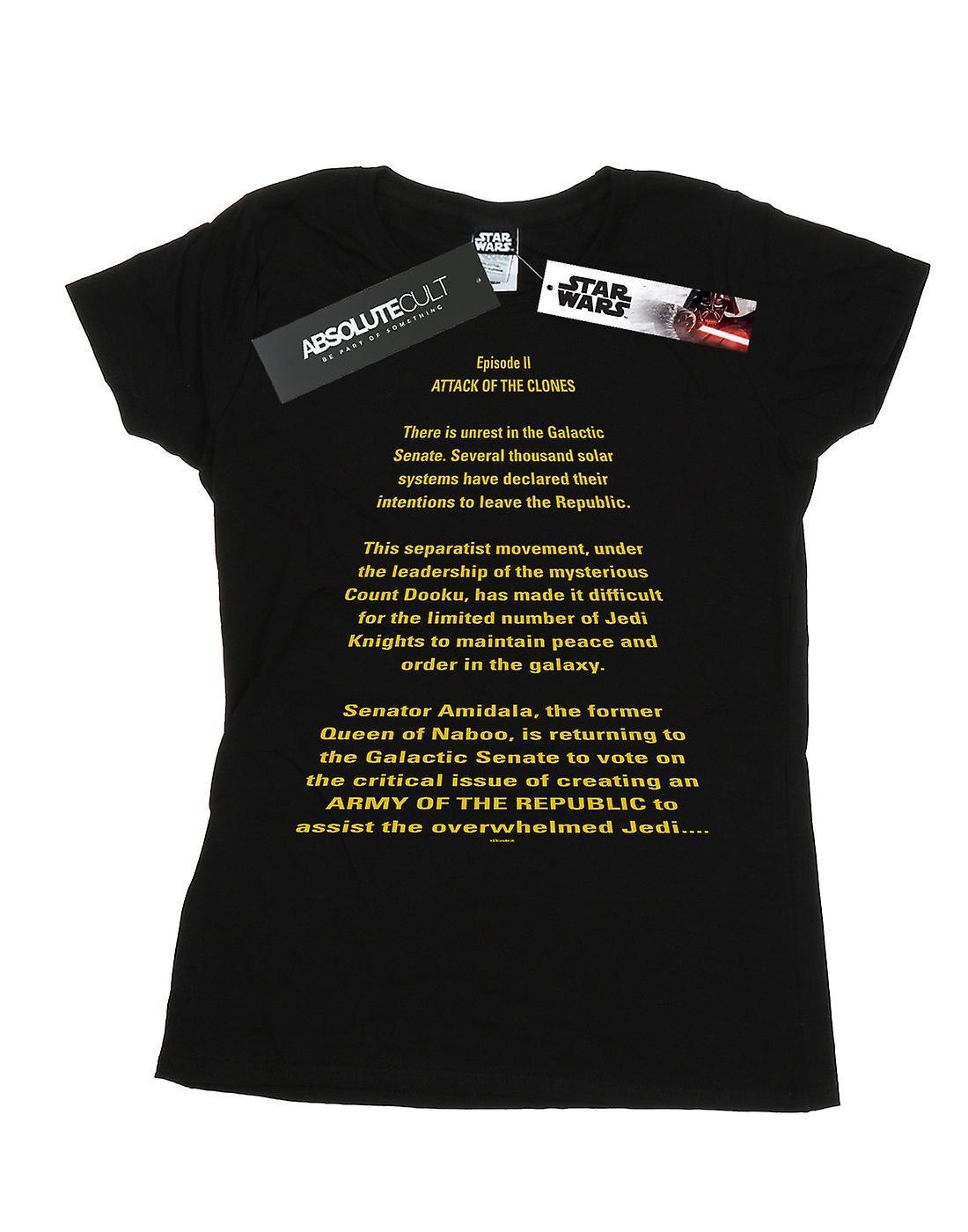 Star Wars Women's Attack Of The Clones Opening Crawl T-Shirt