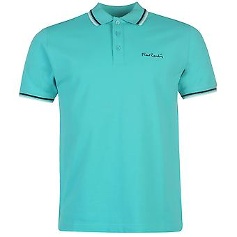 Pierre Cardin Mens Tipped Polo Shirt Casual Short Sleeve Collar Neck Top