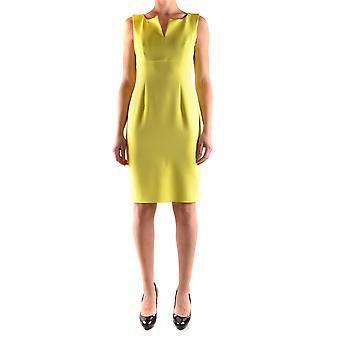 One Ezbc267004 Women's Yellow Polyester Dress