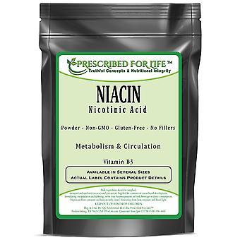 Niasiini-B3-vitamiini-nikotiini happo jauhe