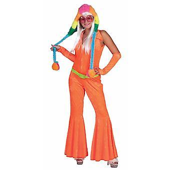Women costumes  orange disco jumpsuit