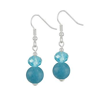 Eternal Collection Captivation Turquoise Silver Tone Drop Pierced Earrings